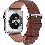 Fullmosa kompatibel Apple Watch Armband 38mm(Serie 4 40mm) in 15 Farben, Ersatz Iwatch Lederarmband...