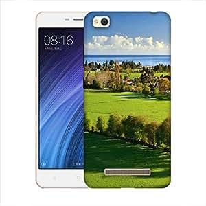 Snoogg Abstract Green Garden Designer Protective Back Case Cover For Xiaomi Redmi 4A