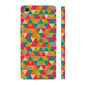 Enthopia Designer Hardshell Case Pink Triangles Back Cover for Oppo R9