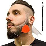 Aberlite Beard Shaper - Beard Lineup Tool W/Barber Pencil (White) - 100% Clear