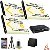 Three Halcyon 1200 MAH Lithium Ion Replacement NP-BN1 Batteries + Memory Card Wallet + Multi Card USB Reader + Deluxe Starter Kit For Sony CyberShot DSC-W710