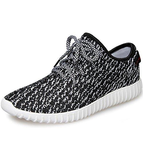 SITAILE Unisex Damen Herren Sportschuhe Laufschuhe Straßenlaufschuhe Sneaker Black White