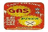 Cama Perro Coches Vintage Restaurante gasolinera impreso 40x60 cm