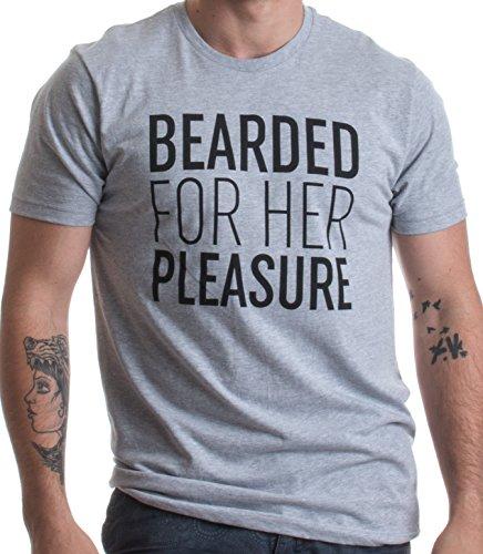 Bearded for her pleasure (barbuto per il suo piacere) - maglietta simpatica per gli amanti della barba - t-shirt uomo con scritta - piccolo - s