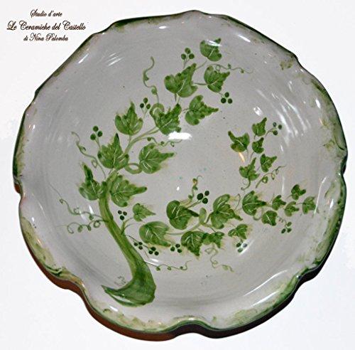 Centrotavola - Linea Edere - Bordo orlato - Le Ceramiche del Castello - 100 % Made in Italy - Pezzo Unico