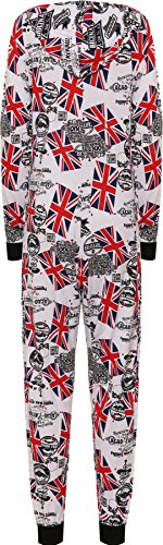 WearAll - Combinaison à capuche avec les imprimés variés - Combinaisons - Femmes - Tailles 36 à 42 Union Jack