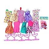TOYMYTOY Accessori per Barbie con Vestiti e grucce di bambola per regalo di bambina