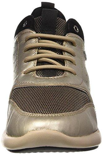 Geox Damen D Ophira B Sneakers Gold (CHAMPAGNE/CHESTNUTCB56J) ...