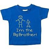Maglietta da bambino con scritta I'm The Big Brother in color blu. Taglie: 0-6 Mesi fino a 5-6 anni. Regalo per la nascita di un nuovo bambino - Blu, 5-6 Years