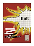 LIMIT Schulheft 10er Pack A4 Lineatur 28 - kariert mit Rand links und rechts 16 Blatt rot