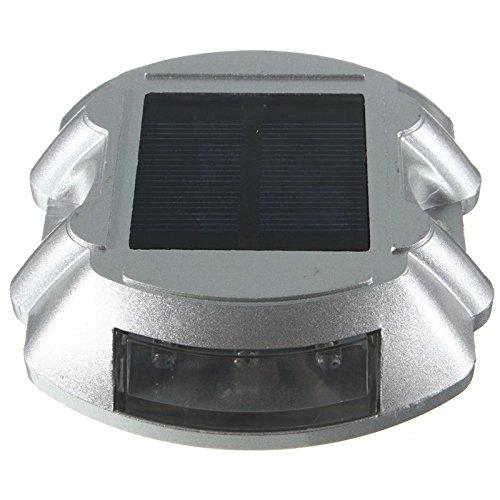 Lampe LED Solaire Réverbère à Énergie Solaire Stud de Route de Lumière de Sécurité Signe Décor Lumineux - Vert