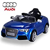 Kinder Elektroauto Lizenzierter Audi RS5 Lizenziert Lackiert Blau Metallik 2 x 35 Watt Motor Original Elektro Kinderauto Kinderfahrzeug Kinderspielzeug Spielzeug für Kinder