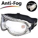 SAFEYEAR Laboratorio Gafas Protectoras de Seguridad de Obra gafas proteccion [Cinta ajustable] SG007 con Lentes Policarbonatos Protección contra Impac