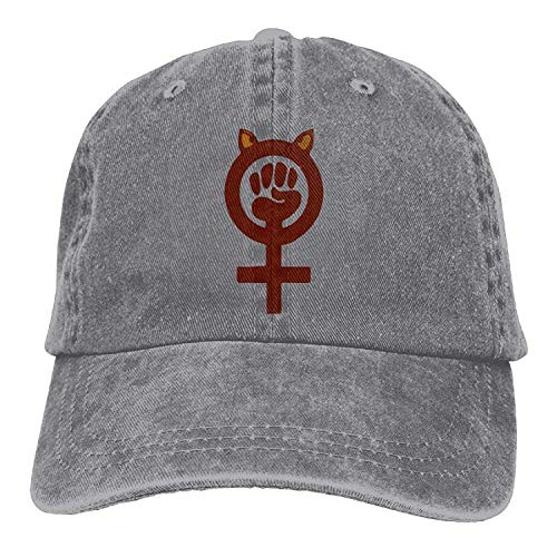 Miedhki Puño Feminista Puño Poder Unisex Lavado Sarga Algodón Gorra de béisbol Vintage Sombrero Ajustable Unisex21