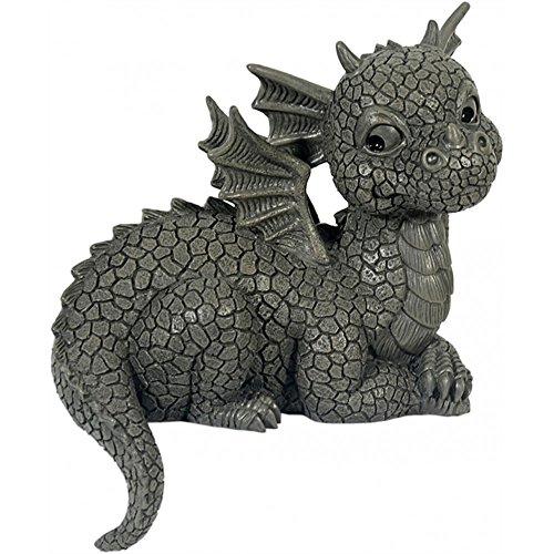Figure de jardin Dragon assis sur le bord