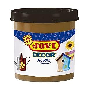 Jovi - Acryl, Caja de 6 Botes, Pintura multisuperficie, Color marrón (67012)