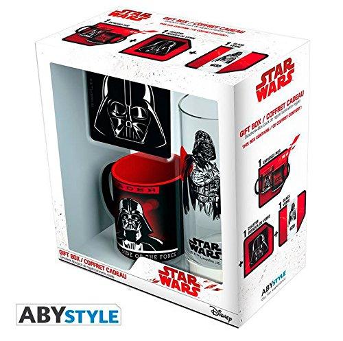Set regalo Darth Vader. Star Wars. Taza, vaso y posavasos