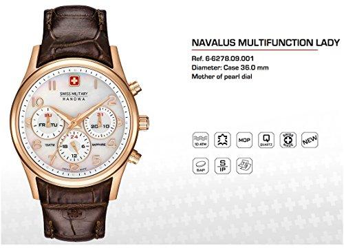 SWISS MILITARY-HANOWA Damen Analog Quarz Uhr mit Leder Armband 06-6278.09.001