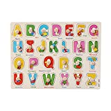 Singular-Point CM© toys Clearance! Wooden Number Lette Puzzle Jigsaw Early Learning Baby Kids Educational CM© toys