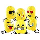 Emoji Sac à Dos Avec Cordon de Serrage,6 Poches de Cordon en Polyester Imperméables...