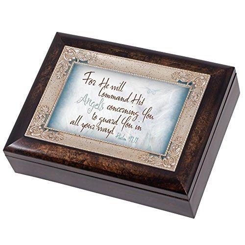 Cottage Garden Angels Guard Sie Psalm 91: 11Italienisches Design Jewelry Musik Box Amazing Grace Design Musik Box