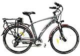 """Reset Bicicletta Elettrica City Bike a Pedalata Assistita 28"""" 250W New E-Pathfinder Grigia"""