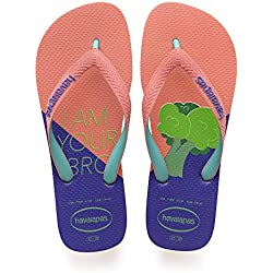 Havaianas Top Cool, Chanclas para Mujer, Multicolor (Orange Cyber), 37/38 EU (35/36 Brazilian)