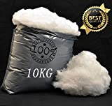 High Grade - 10 Kilo Kg - Hollow Fibre Stuffing / Filling / Fill Toys, Pillows, Cushion Covers by Hollowfibre Filling