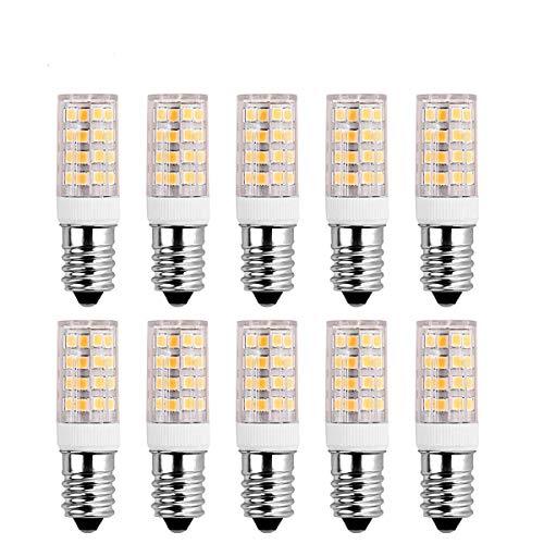 SanGlory 10 Stück E14 LED Lampen 5W, 51 X 2835 SMD LED,400LM,warmweiß 3000K LED Birnen ersatz 40W Glühlampe,AC 220-240V,360° Abstrahlwinkel E14 LED Leuchtmittel (10er Pack) -