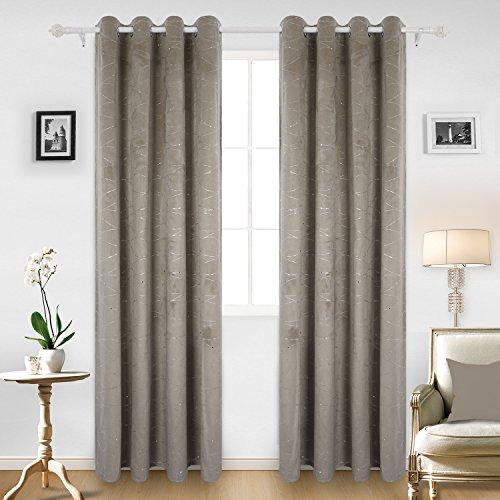 Deconovo tende termiche isolanti con occhielli per la casa con due fermatende 140x240 cm cachi 2 pannelli
