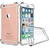 Gilsey iPhone 6 6S (4,7 Zoll) Hülle TPU Case Schutzhülle Silikon Crystal Case Durchsichtig mit Kantenschutz – Transparent