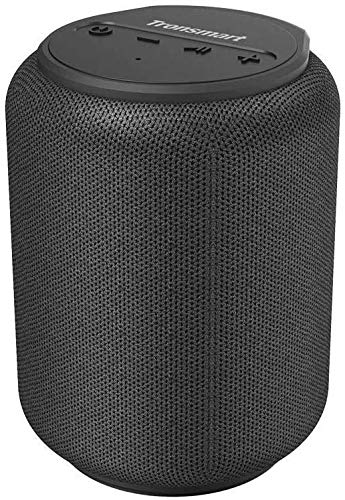 Bluetooth speakers 5.0, Tronsmart T6 Mini 15W Ultra Portable Outdoor Speaker with 24 Hrs Playtime, 360° TWS Stereo Sound, Extra Bass, IPX6 Waterproof, Support TF/Micro SD Card, Voice Assistant, Alexa