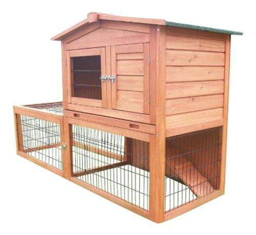 BUNNY BUSINESS Kaninchenstall mit integriertem Auslauf und Gehege
