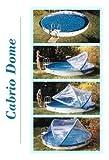 Abdeckung Cabrio-Dome Stahlwandbecken 3,00m rundform Poolheizung Poolüberdachung