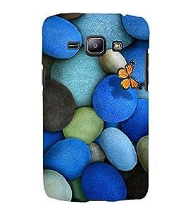 EPICCASE Butterfly on Pebble Mobile Back Case Cover For Samsung Galaxy J1 (Designer Case)