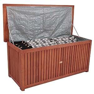 auflagenbox holzkiste f r gartenauflagen auflagenkiste aus akazie ge lt. Black Bedroom Furniture Sets. Home Design Ideas