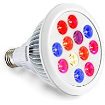 LED Grow Light, Swiftrans 24W Full Spectrum alta efficienza pianta
