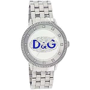 D&G Dolce&Gabbana Damen-Armbanduhr PRIME TIME BIG WITH BLUE LOGO BRC DW0133