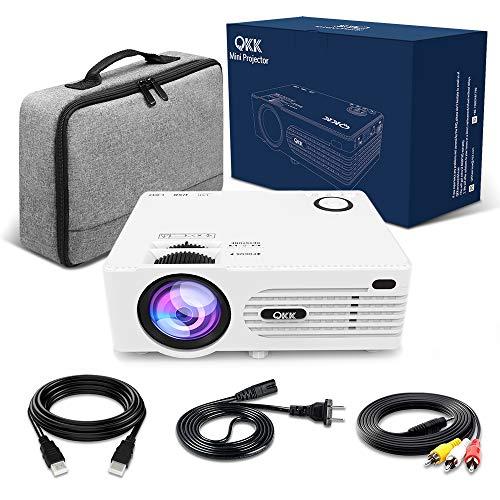 QKK 2200 Lumens Mini Beamer, unterstützt 1080P Full HD, (HDMI, VGA, USB x 2, SD) - 8