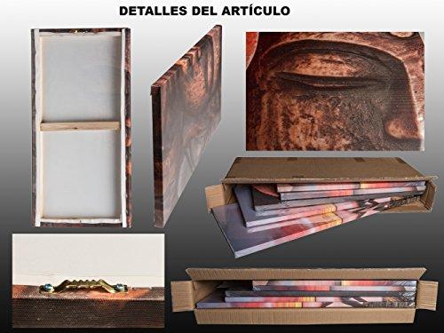 DekoArte - Cuadro moderno en lienzo Buda zen 150x100cm 5