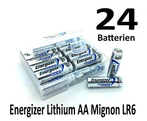 NEMT Flachbox mit 24x Energizer Lithium Mignon AA Batterie LR6