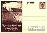 Deutsches Reich P260 Amtliche Postkarte gefälligkeitsgestempelt gebraucht 1936 Sommerspiele (Belege Ganzsachen für Sammler)