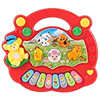 MOGOI Toddler Animal Piano, Baby Cute Animal Piano Keyboard Musical Toys Animal Sounds Recognition Skills Learning Piano Infant Developmental Music Toy - Best Gifts For Toddler Baby Kids