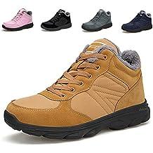 9dd7d5134fe29 TORISKY Hombre Mujer Botas de Nieve Invierno Aire Libre Zapatos Impermeable  Antideslizante Calientes Botines Planas 36