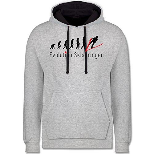 Evolution - Skispringen Evolution - Kontrast Hoodie Grau meliert/Dunkelblau