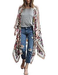 7101b7de2a DEELIN Camisa con Cuello Alto De La Rebeca del Kimono del Chal Flojo De La  Gasa
