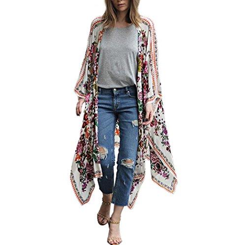 DEELIN Camisa Cuello Alto De La Rebeca Kimono Chal