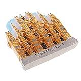 non-brand MagiDeal Mini 3D Modelo de Construcción Mundial Imanes de Nevera Decoración del Hogar - Catedral de Milán