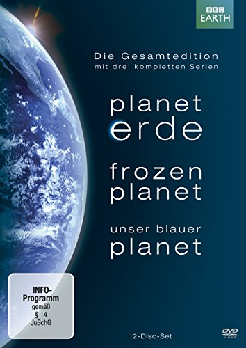 Planet Erde / Frozen Planet / Unser blauer Planet - Die Gesamtedition [12 DVDs] (Erde Planet Hd-dvd)