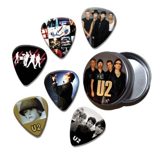 U2Bono Conjunto de 6Loose púas de guitarra en Tin (colección e)
